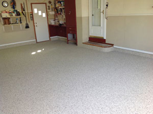 garage floor finished
